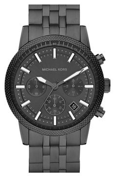 Mid-Size Gunmetal Stainless Steel Runway Chronograph Watch by Michael Kors Michael Kors Outlet, Cheap Michael Kors, Handbags Michael Kors, Mk Handbags, Cheap Handbags, Cheap Bags, Designer Handbags, Men's Watches, Fashion Watches