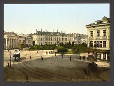 A collection of old postcards of Warsaw, the capital city of Poland. Warsaw Poland, Library Of Congress, Capital City, Historical Photos, Vintage Postcards, 19th Century, Empire, The Past, Louvre