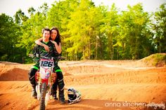 Anna Kinchen Photography: Melanie + Josh | Motocross Engagement Session!!!
