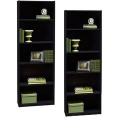 Ameriwood 5-Shelf Bookcases, Set of 2 (Mix and Match)