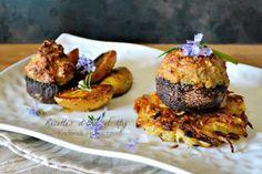 Recette champignons farcis veau jambon et rostis plancha Eno chez Kaderick en…