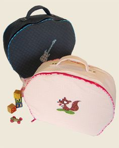 **DIY** Des valisettes en tissu à coudre pour les filles et les garçons!   Les Moutons de Kallou