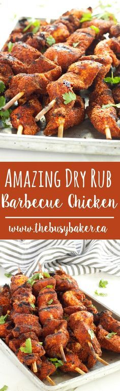 This Dry Rub Barbecue Chicken is perfect for summer grilling! www.thebusybaker.ca