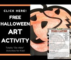Looking for a fun art project for your kids to complete during the Halloween season? Turn your usual Jack O Lantern activity into a fun Picass-O Lantern inspired by the famous artist, Pablo Picasso. This is a great kids activity for the classroom or for at home. Integrates well with your fall and Halloween themed activities. Halloween Art, Halloween Themes, Halloween Season, Fall Preschool Activities, Stem Activities, Famous Spanish Artists, Abstract Art For Kids, Fall Arts And Crafts, Pumpkin Template