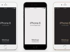 Here are some well made iPhone 6 Plus mockups created with Photoshop vector shapes. Free PSD released by Pixeden.