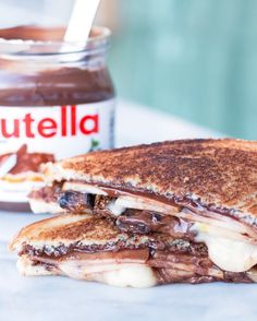 Grilled Nutella, Brie, Pear + Fig Grilled Cheese.