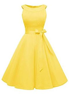 online shopping for Find Dress Find Dress Women Scoop Vintage Retro Cocktail Rockabilly Swing Dress from top store. See new offer for Find Dress Find Dress Women Scoop Vintage Retro Cocktail Rockabilly Swing Dress Retro Prom Dress, Dress Prom, Prom Dresses, Evening Dresses, Party Dress, Vestidos Rockabilly, Rockabilly Dresses, Yellow Dress, The Dress
