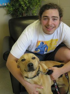 Lmaoo he adopted a dog in 2013 and the shelter posted this I love himmm @karmasci