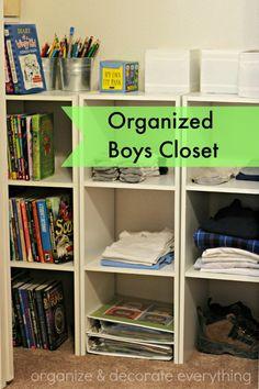 Organized Boys Closet - Organize and Decorate Everything