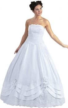 Puffy White Ball Gown Natural Flower(s) Quinceanera Dress QD147E