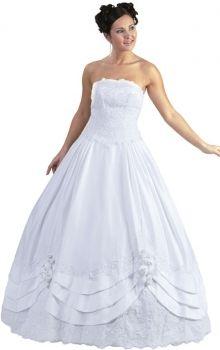 Puffy White Ball Gown Natural Flower(s) Quinceanera Dress QD147E