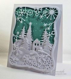Frostyville Snowflake Scene by kittie747 - Cards and Paper Crafts at Splitcoaststampers