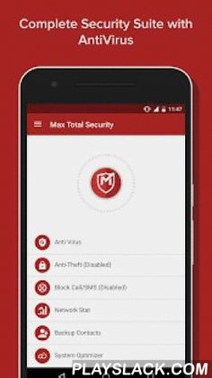 Max Total Security  Android App - playslack.com ,  Max Total Security for Android devices protects your smartphones and tablets from viruses. It has an AntiVirus, Safe browsing, Anti-Theft, Network statistics, Call/SMS Block, System Optimiser, Contact Back up and Battery Saver. The AntiVirus protects your devices from all kinds of spyware, Trojans, spam ware, bloat ware. Max Secure Software has years of experience in the Anti-Virus domain. Its anti-malware Research Lab is continuously…