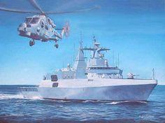 South African Navy Painting - Sas Isandlwana by Tim Johnson