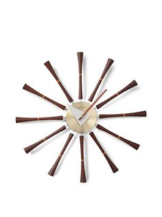 George Nelson Clocks Spindle Wall Clock