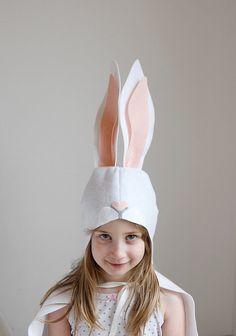 Bunny Pattern DIY Costume Mask Sewing Pattern Creative Forest Animals Game Ideas for Kids Baby Kids Easter Holiday Halloween Gift - Diy Gifts 2019 Trends Bunny Costume Kids, Diy Baby Costumes, Costumes Kids, Costume Ideas, Costume Lapin, Rabbit Costume, Diy Gifts For Kids, Diy For Kids, Halloween Gifts