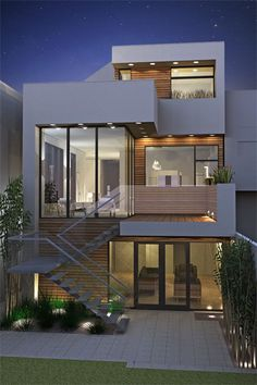 architecture design Haus - Home Design Ideas Beautiful Home Designs, Beautiful Homes, Architecture Design, Architecture Interiors, Minimalist Architecture, Casas Containers, Facade House, House Facades, Modern House Design