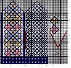 30 Patrones de Mitones Jackard Knitted Mittens Pattern, Crochet Mittens, Knitted Gloves, Knitting Charts, Hand Knitting, Knitting Patterns, Wrist Warmers, Hand Warmers, Knit Art