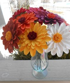 Gerber Daisy Paper Flower Bouquet. CHOOSE YOUR COLORS. Centerpiece, Wedding, Anniversary, Birthday, Mother's Day, Gift by TreeTownPaper on Etsy