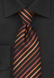 Krawatte Clip Streifenstruktur tintenschwarz orange günstig kaufen