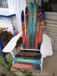 #skiing #art #chair #crafts lingatesphotography.com
