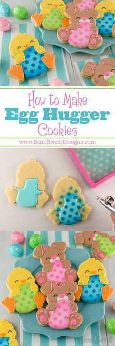 A step-by-step tutorial (with video!) on how to decorate these egg hugger chick cookies with royal icing. Perfect gifts for Easter! Easter Cupcakes, Easter Cookies, Baking Cupcakes, Fun Cupcakes, Holiday Cookies, Wedding Cupcakes, Cut Out Cookies, Cute Cookies, Cupcake Cookies