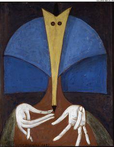 "Victor BRAUNER. ""Hôtesse"".  1961. Oil on canvas. Size in Cm: 55 x 46."