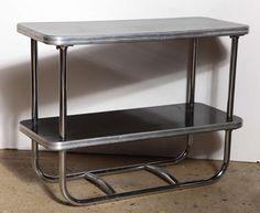 art deco chrome tables | Pair of Art Deco Royal Chrome Side Tables at 1stdibs