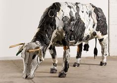Federico Uribe recycles everyday objects into captivating animal sculptures