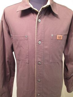 CAT Caterpillar JACKET Men Size XL Brown Work Forklift Coat RN 94207 CA 52706 #Caterpillar #BasicJacket