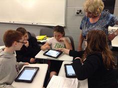 K. Vidmar (@OH_MathTeacher): Mrs. Hill helps out as Ss explain their math product created on Haiku Deck. #catalyst pic.twitter.com/tk7VDHlbIv