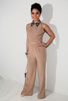 1d9d7145ffc Vanessa Hudgens Jumpsuit - Vanessa Hudgens stuck to her  70s aesthetic in  this nude jumpsuit · Aesthetic FashionJenny ...