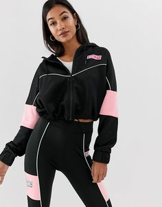 Buy Puma X Barbie XTG track jacket at ASOS. Get the latest trends with ASOS now. Polo Outfits For Women, Swag Outfits For Girls, Sporty Outfits, Fashion Outfits, Clothes For Women, Asos, Running Jacket, Sports Jacket, Trends