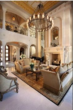 Luxury Mansion Living Room : Gorgeous living room area #living #wainscoting #design #craftsman ...