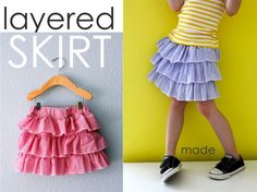TUTORIAL: the Layered Skirt (a lot of other really cool tutorials for clothes and the home and sewing tips found on this site too!)