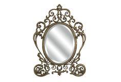 Is it me or does this look like Cinderella's carriage? Thetford Vanity Wall Mirror on OneKingsLane.com