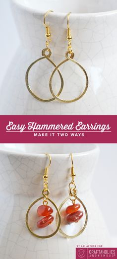 DIY earings that are the perfect christmas gift!