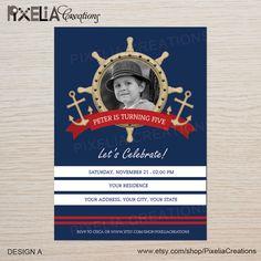 Nautical birthday invitation-Printable by PrintablePartyInvite