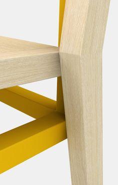 Frame #chair #design Davide Dante Valerio. #furniture #stackable #innovation #detail