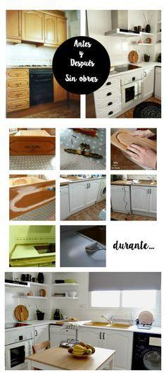 Reforma de mi cocina sin obras. Antes, durante y después. #diy #kitchen #beforeafter #kitchen