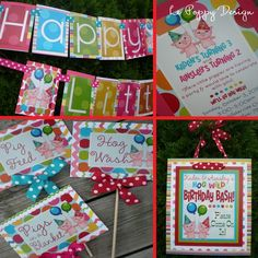 Piggie Birthday Party Decorations Package  Little by LePoppyDesign,