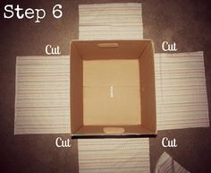 Fabric Covered Diaper Box - step by step tutorial