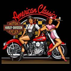 Harley Davidson.....American Classic.  Another great pinup tat idea