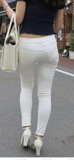 Hot Girl White Pants