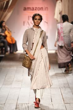 By designer Anavila. Shop for your wedding trousseau, with a personal shopper & stylist in India - Bridelan, visit our website www.bridelan.com #Bridelan #bridelanindia #Anavila #amazonindiafashionweek #amazonfashionweek2016 #autumnwinter