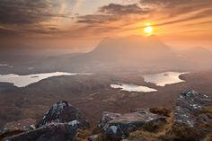 Sunrise over Cul Mor - Inverpolly, Scotland, United Kingdom by Bart Heirweg