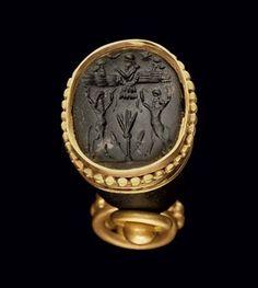 A NEO-ASSYRIAN OBSIDIAN CONOID | CIRCA 8TH-7TH CENTURY B.C. | 8th Century B.C., seal | Christie's