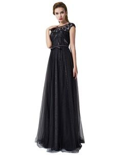 Anne Women's Sheer Neck Sequins Prom Dresses Peacock Long Evening Gown. Made in China, Sold by Anne. High Quality Tulle Fabric, very comfortable to wear. Sheer Neck, Long Prom Dress. Importance:We have TWO Shipping Ways. 1. The Expedited Way will take 3-4 days to arrive. 2. The Standard Way will take 10-222 days to arrive. Please note: this item is flat packed when post,please iron under warm and low temperature or hang in the shower room to ease the crease.