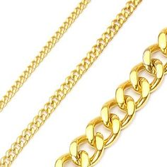 Mens Gold Necklace thick, heavy, and very affordable for a fathers day gift