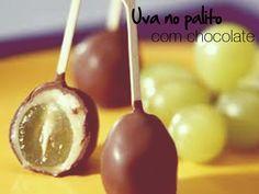 Uva no palito com chocolate
